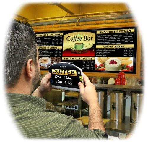 Amigo HD Portable Magnifier reading Coffee Bar menu
