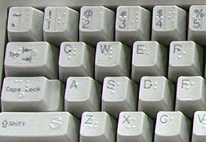 Keyboard Key Caps for low vision and blindness