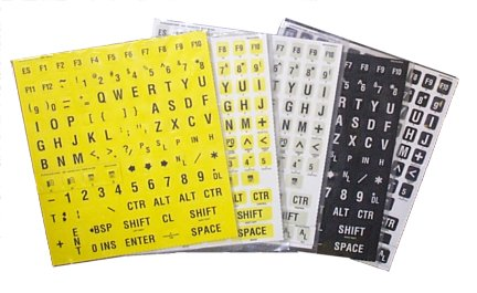 Hoolean Braille Keycaps black on yellow, black on ivory, white on black, some with Braille