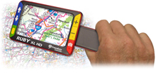 Ruby XL HD Hand Held Magnifier viewing map