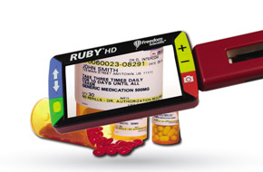 Ruby HD Reading pill bottle