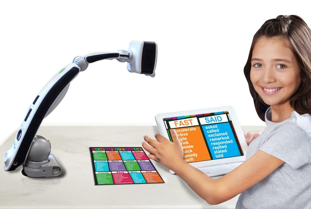 Transformer HD Video Magnifier Student Using device