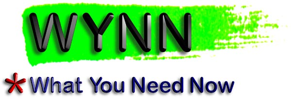 "WYNN logo and ""*What You Need Now"""
