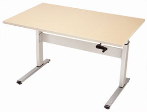 Equity Adjustable Table with hand-crank