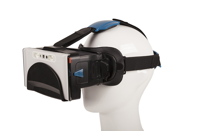 Headworn Attachment for Compact 6 HD Magnifier shown on a Mannequin