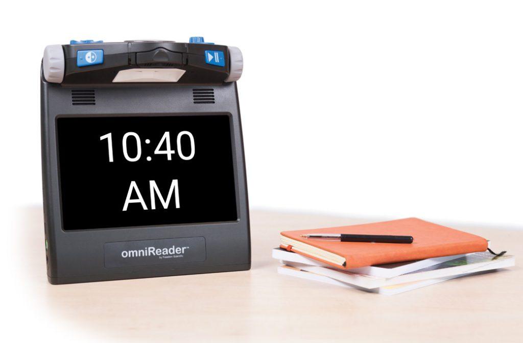 omniReader displaying time
