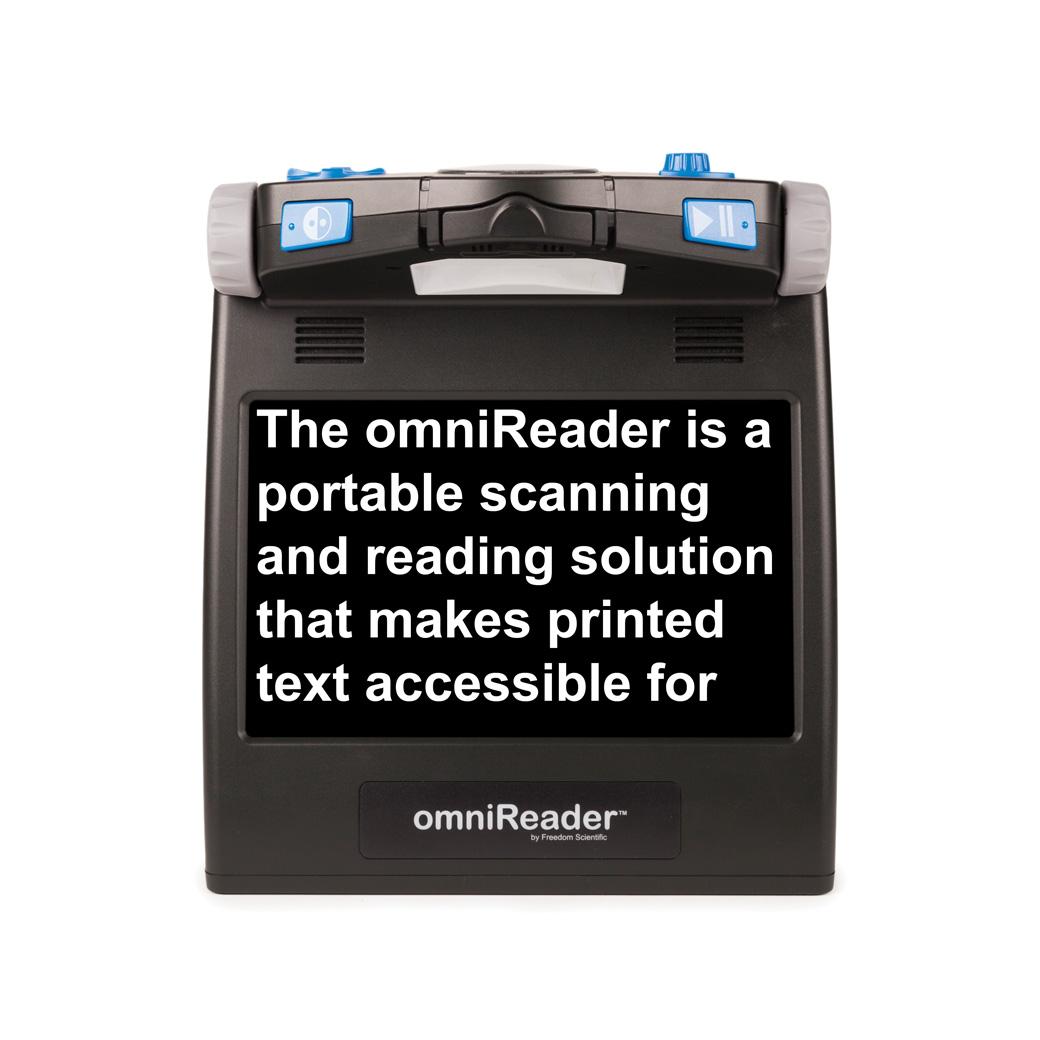 omniReader displaying text