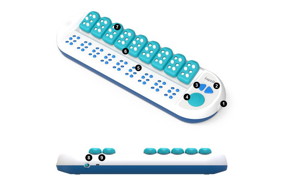 Taptilo Braille Learning Device with Product Orientation